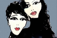 italienske piger i rullekrave-plakat