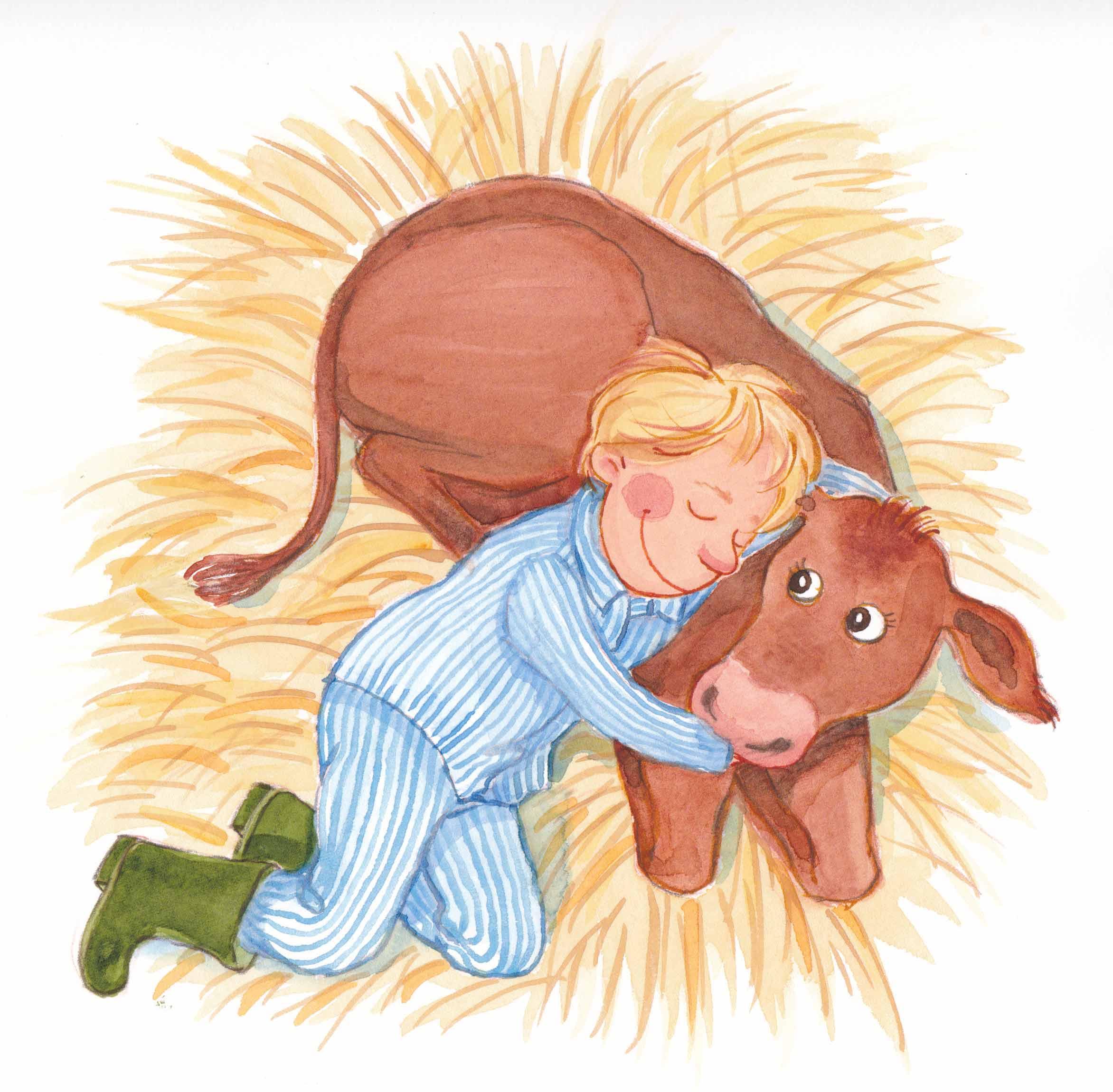 Illustration til læsebog. Gyldendal Uddannelse