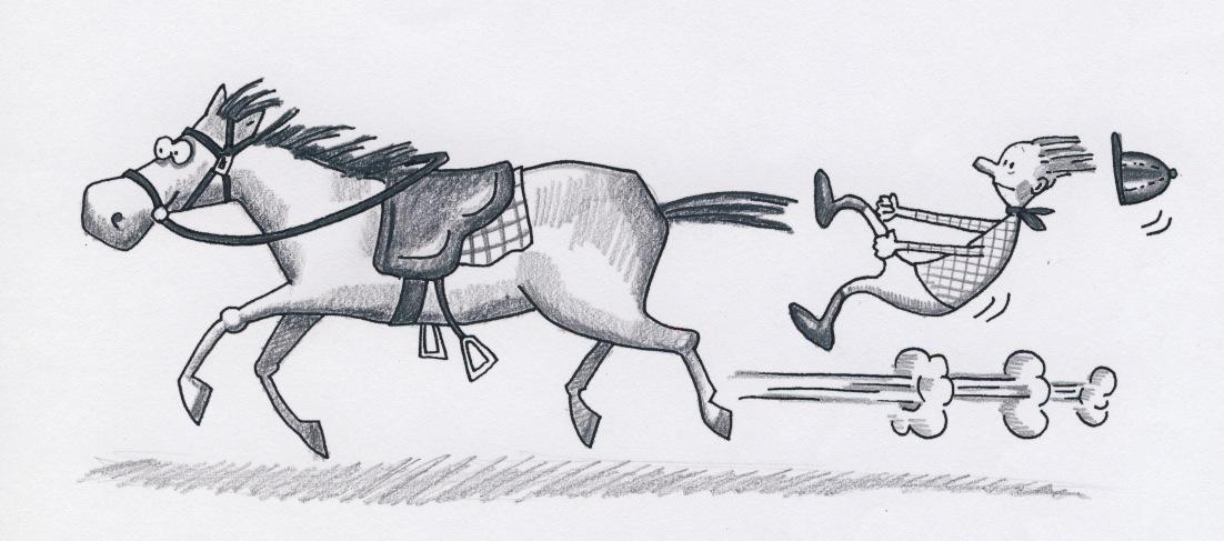 Rytter af hest kopi