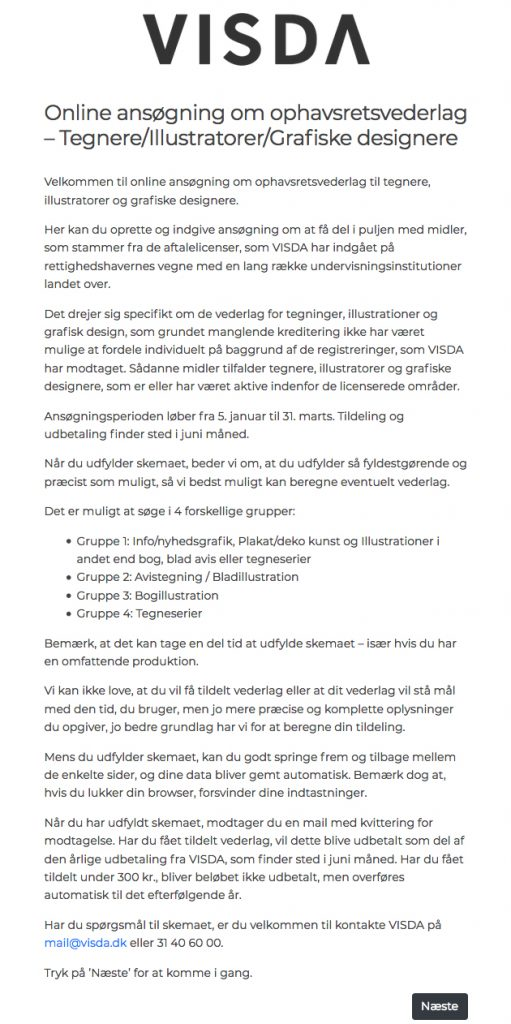 b6ada0b0 1) Når man klikker på: reg.visda.dk/itg begynder man på velkomstsiden. Giv  dig tid at læse den: