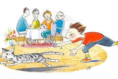 Børneopdragelse. Bladtegning. Karen Borch