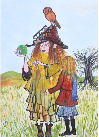 Illustration til eventyr - Alice Snerle Lassen