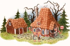 Illustration til Brdr. Grimm. People´s Press