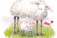 Illustration til sangbog. Gyldendal