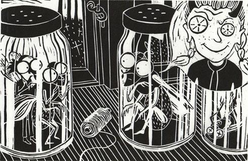 Grafsik Billedbog - side 8 MANDEN FLUEN & DET USTYRLIGE PIGEBARN Turbine 2014