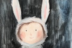 Malet-kaninpige